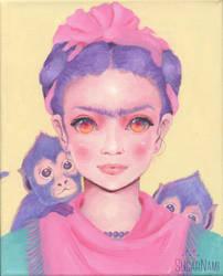 Pastel-Frida Kahlo by Sugar-Nami