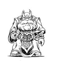 Old Dwarf Of the Council 02 by Tregis