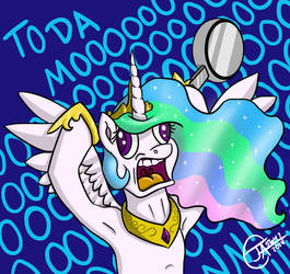 Screaming Celestia by jlfdog