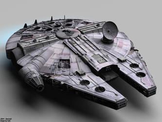 Star Wars: Millennium Falcon by SencneS