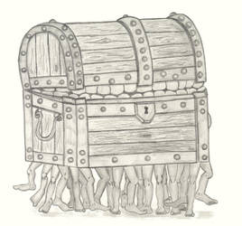 The Luggage Pencil Sketch by stacieyates