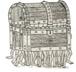 The Luggage Hand Inked by stacieyates