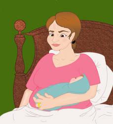 Sybil  Holds Newborn Sam by stacieyates