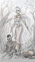 Ixtab god idea - Smite (still a sketch) by Sciamano240