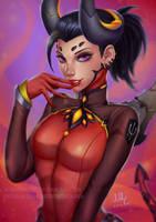 Mercy devil - Overwatch (Patreon reward) by Sciamano240