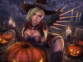 Witch Mercy - Overwatch (2 versions available) by Sciamano240