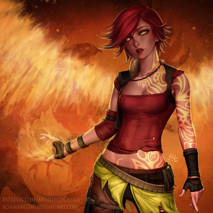 Lilith the Firehawk - Borderlands 2 by Sciamano240