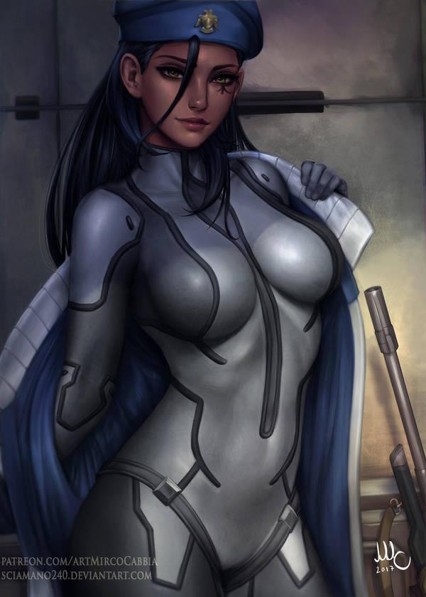 Cpt. Ana Amari - Overwatch (3v) by Sciamano240