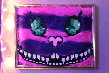 Cheshire Cat Perler Framed by Tony009