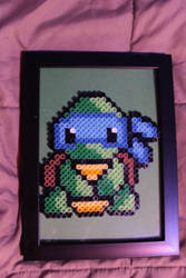 Teenage Mutant Ninja Turtle Leonardo Perler Framed by Tony009