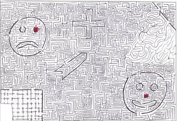 Maze 4- turn that frown by Nebagram