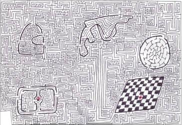 Maze 7- Formula One by Nebagram