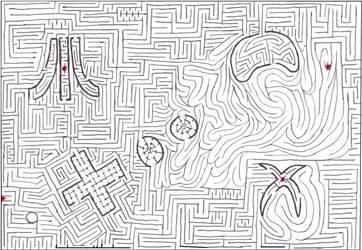 Maze 21- Videogaming as love by Nebagram