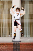 Pit: Kid Icarus! - Victory! by denni-cosplay