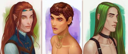 Sketched Boys by ellrano