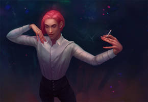 Dancing with himself by ellrano