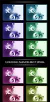 Coloring Mandelbrot Spiral by Niluge-KiWi