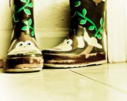 Monkey Rain Boots by MariaWillhelm