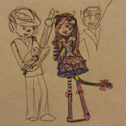 Unfinished inspiration of a Rock Band by 8TeamFriends8