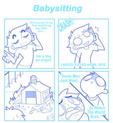 Babysitting by SmokyJack