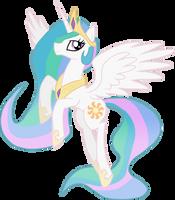 Princess Celestia Vector by Xain-Russell