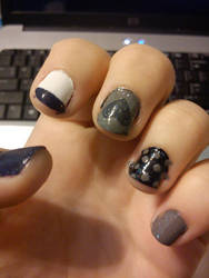 Gamzee inspired nails by My-lacerated-soul