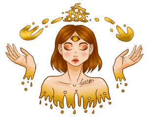 golden triquette by LynAnnais
