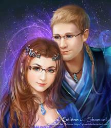 Selene and Shamael by phoenixlu