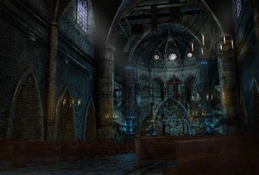 Cathedral sci-fi 3D by Priss-nqm