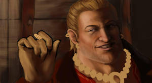 Dragon Age 2: Varric -wip- by Splintter