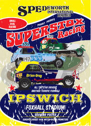 Old Skool Spedeworth Superstox Poster by gridart