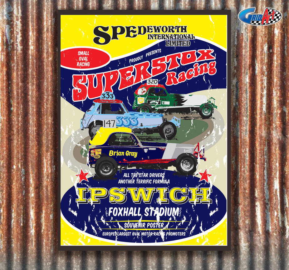 Spedeworth Retro Superstox Poster by gridart