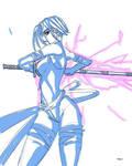 Sketch Psylocke by CCSNASH