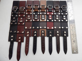 Pirate Rogue Steampunk leather cuffs by Shadow066
