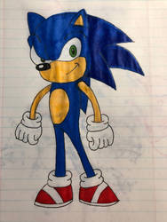 Sonic the hedgehog by Morgan4502