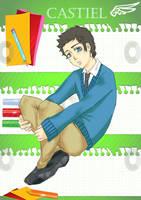 SPN - College AU Castiel by DivineRaziel