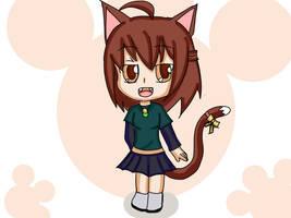 Robyn_cell chibi neko  Full color by Drawmanex