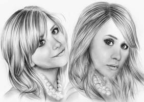 Olsen twins by mandyart