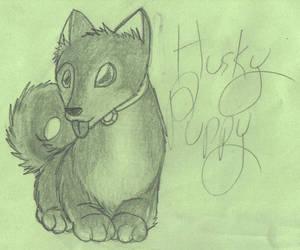 Green Paper Sketch by BubbleLum
