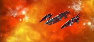 Eldar Ebon Fleet by Addinarr