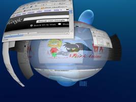 My desktop in Linux :D by MarKAnime