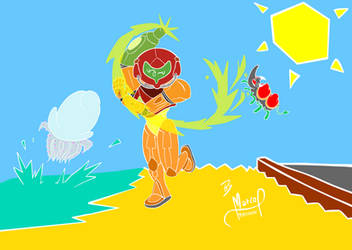 Metroid: Samus in Spain by MarKAnime