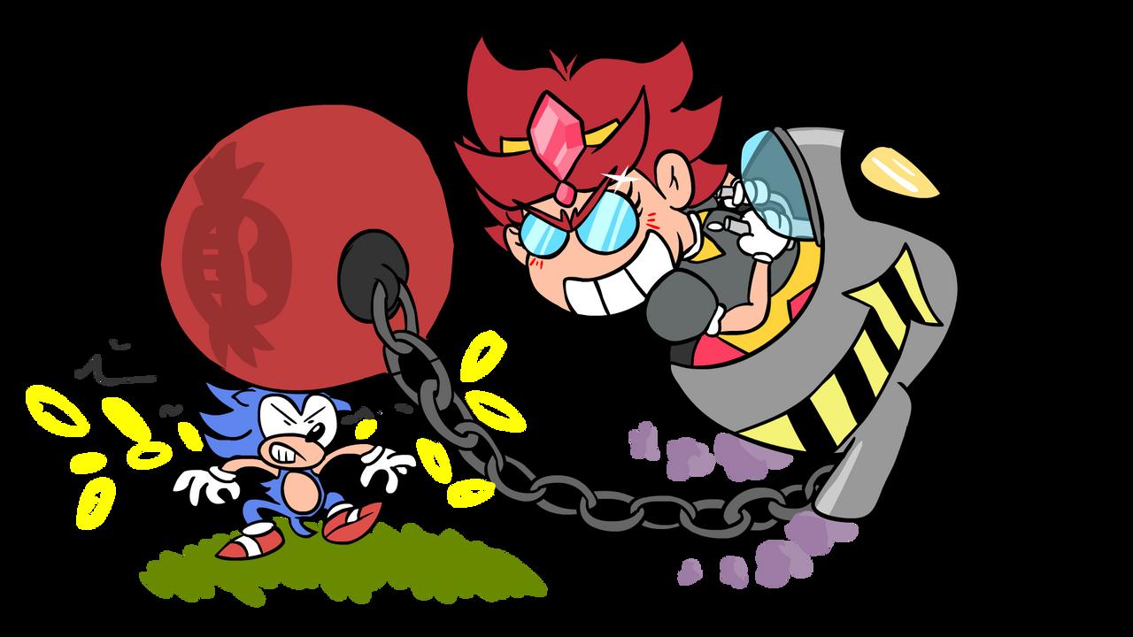 Eggette Vs Sonic by MarKAnime