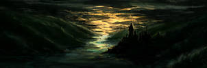 Hogwarts Sunset .Speed. by Heyriel