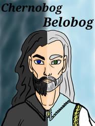 Mythical Portraits : Chernobog and Belobog by MaggieRaven