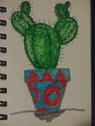 Inktober 25 Prickly by MaggieRaven