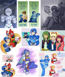 Megaman X (and miscellaneous) sketchdump by thecreatorofworlds