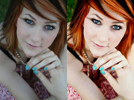 Before and after retouching by chupla