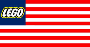 United States of Lego Flag by BullMoose1912