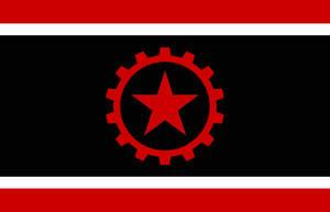 Libertarian Socialist Flag by BullMoose1912